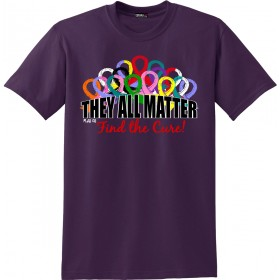 """They All Matter"" Unisex T-Shirt - Blackberry"