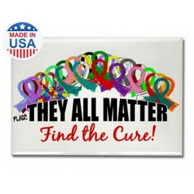 """They All Matter"" Rectangle Magnet"
