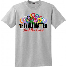 """They All Matter"" Unisex T-Shirt - Heather Grey"