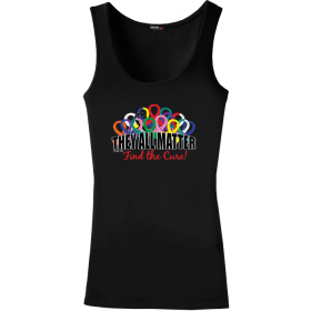 """They All Matter"" Stretch Tank Top - Black"