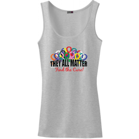 """They All Matter"" Stretch Tank Top - Heather Grey"