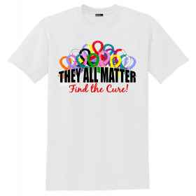 """They All Matter"" Unisex T-Shirt - White"