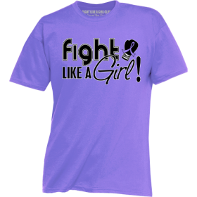 """Fight Like a Girl Signature"" Unisex T-Shirt - Violet"