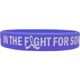 """""""In The Fight"""" Ink-Filled Silicone Wristband Bracelet - Violet"""