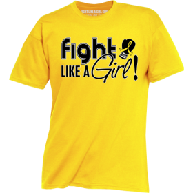 """Fight Like a Girl Signature"" Unisex T-Shirt - Yellow"