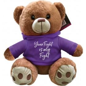 """Your Fight Is My Fight"" Fight Pal Teddy Bear - Purple"