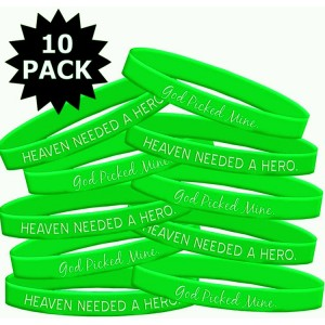Lymphoma Muscular Dystrophy Wristband Bracelet Heaven Needed a Hero God Picked Mine 10 Pack