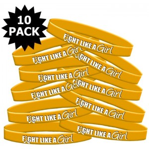 Fight Like a Girl Wristband for Childhood Cancer, Neuroblastoma, COPD