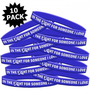 In The Fight For Someone I Love Wristband Bracelet for Colon Cancer, RA, CFS, Dysautonomia, Ankylosing Spondylitis
