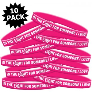 """In The Fight"" Breast Cancer Silicone Wristband - Pink"