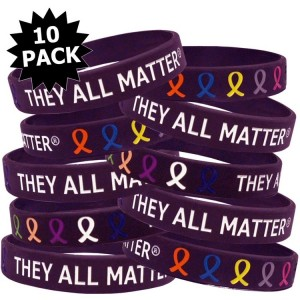 They All Matter Wristband Bracelets 10-Pack
