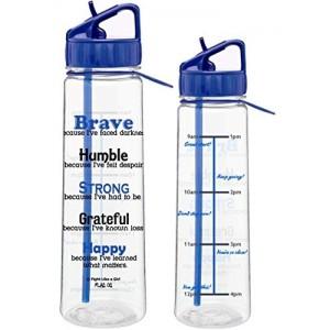 """""""Brave"""" SlimKim II Water Bottle - Blue"""