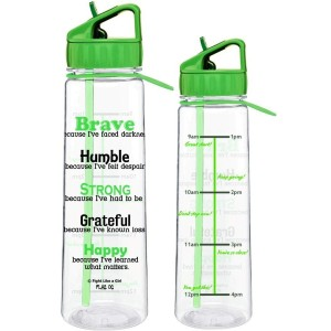 """Brave"" SlimKim II Water Bottle - Lime Green"