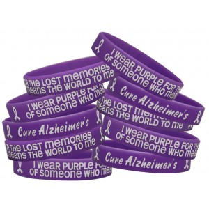 """Lost Memories"" Ink-Filled Silicone Wristband - Alzheimer's Disease (10 Pack)"