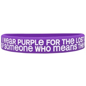 """""""Lost Memories"""" Ink-Filled Silicone Wristband - Alzheimer's Disease"""