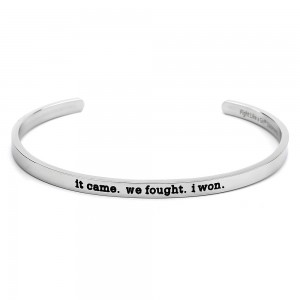 It Came We Fought I Won Bangle Cuff Bracelet Stainless Steel