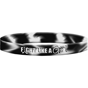 Fight Like a Girl Wristband Bracelets for Carcinoid Cancer, EDS, Neuroendocrine Cancer
