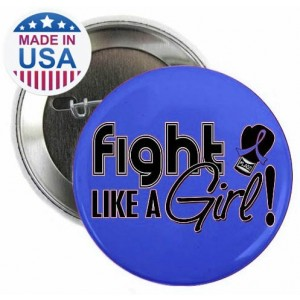 """""""Fight Like a Girl Signature"""" Round Button"""