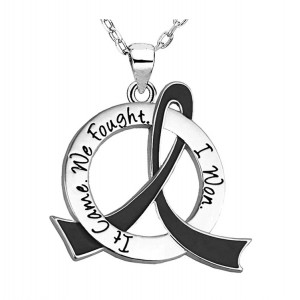 """It Came. We Fought. I Won."" Survivor Necklace For Melanoma and Skin Cancer"