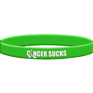 Cancer Sucks Lime Green Wristband Bracelet for Non-Hodgkin's Lymphoma and General Lymphoma