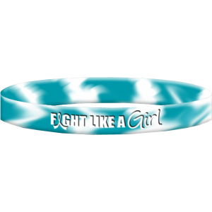 Fight Like a Girl Cervical Cancer Wristband Bracelet