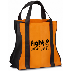 Fight Like a Girl Tote Bag Leukemia MS Multiple Sclerosis RSD COPD Kidney Cancer