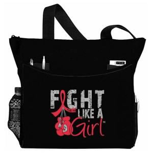 Fight Like a Girl Knockout Dakota Tote Bag - Red