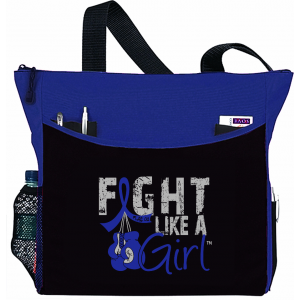 Fight Like a Girl Knockout Dakota Tote Bag - Blue