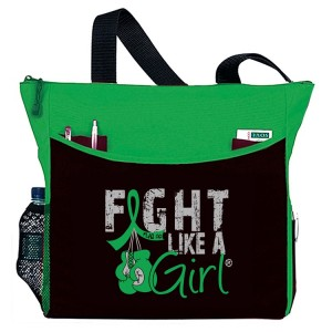 Fight Like a Girl Tote Bag for Kidney Cancer, Kidney Disease, Traumatic Brain Injury aka TBI, Cerebral Palsy, Bile Duct Cancer