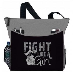 """Fight Like a Girl Knockout"" Dakota Tote Bag - Grey"