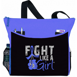 Fight Like a Girl Knockout Dakota Tote Bag - Light Blue