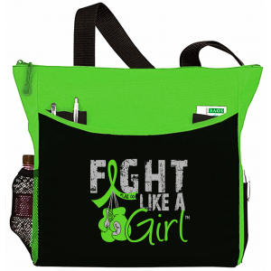 Fight Like a Girl Knockout Dakota Tote Bag - Lime Green
