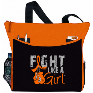 Fight Like a Girl Knockout Dakota Tote Bag - Orange