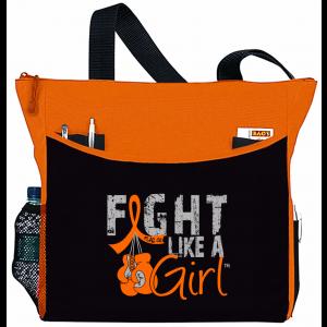 Fight Like a Girl Knockout Dakota Tote Bag - Orange