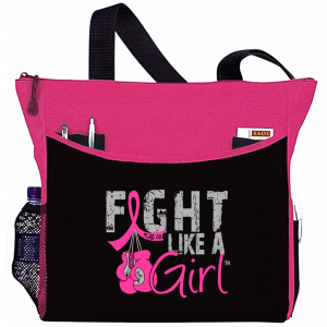 Fight Like a Girl Knockout Dakota Tote Bag - Hot Pink