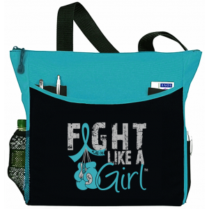 Fight Like a Girl Knockout Dakota Tote Bag - Teal