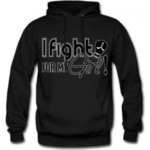 Fight for My Girl Signature Hoodie - Black