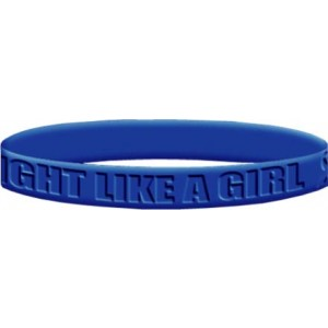 Fight Like a Girl 2 Wristband - Blue