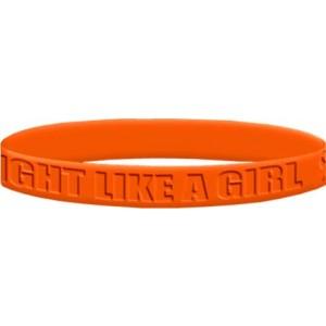 Fight Like a Girl 2 Wristband - Orange