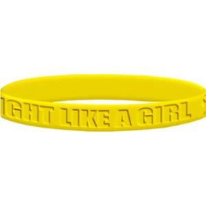 Fight Like a Girl 2 Wristband - Yellow