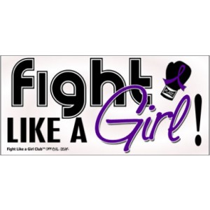 Fight Like a Girl Signature Bumper Sticker - Purple