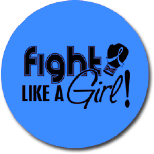"""Fight Like a Girl Signature"" Jar Opener - Blue"