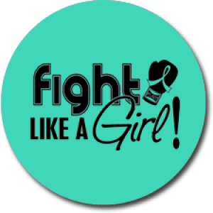 """Fight Like a Girl Signature"" Jar Opener - Teal"