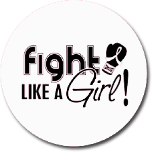 """Fight Like a Girl Signature"" Jar Opener - White"