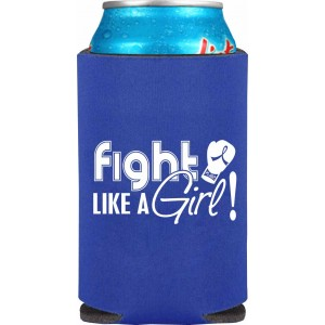 """Fight Like a Girl Signature"" Koozie - Blue"