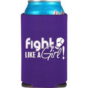 """Fight Like a Girl Signature"" Koozie - Purple"