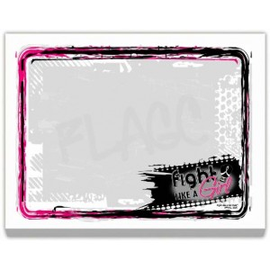 """Fight Like a Girl Signature"" Sticky Note Pad (2 Pack)"