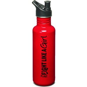 Fight Like a Girl Vertical Stainless Steel 25 oz. Sports Bottle - Red