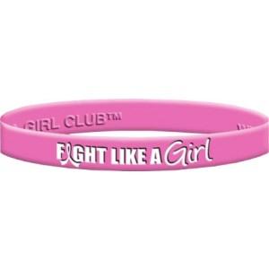 Fight Like a Girl Wristband - Pink