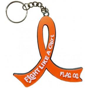 Fight Like a Girl Keychain for Leukemia, Kidney Cancer, RSD, Multiple Sclerosis aka MS